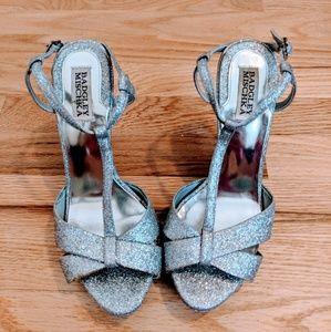 Sparkly silver stilettos Badgley Mischka